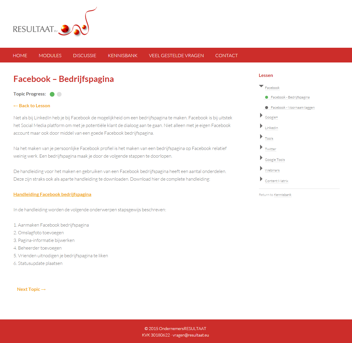 Facebook   Bedrijfspagina   Resultaat.eu