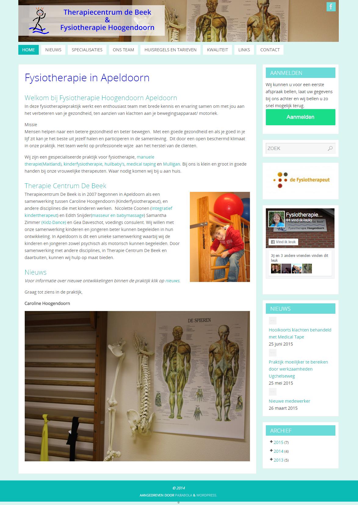 Fysiotherapie in Apeldoorn   Fysiotherapie Hoogendoorn en Therapiecentrum de Beek