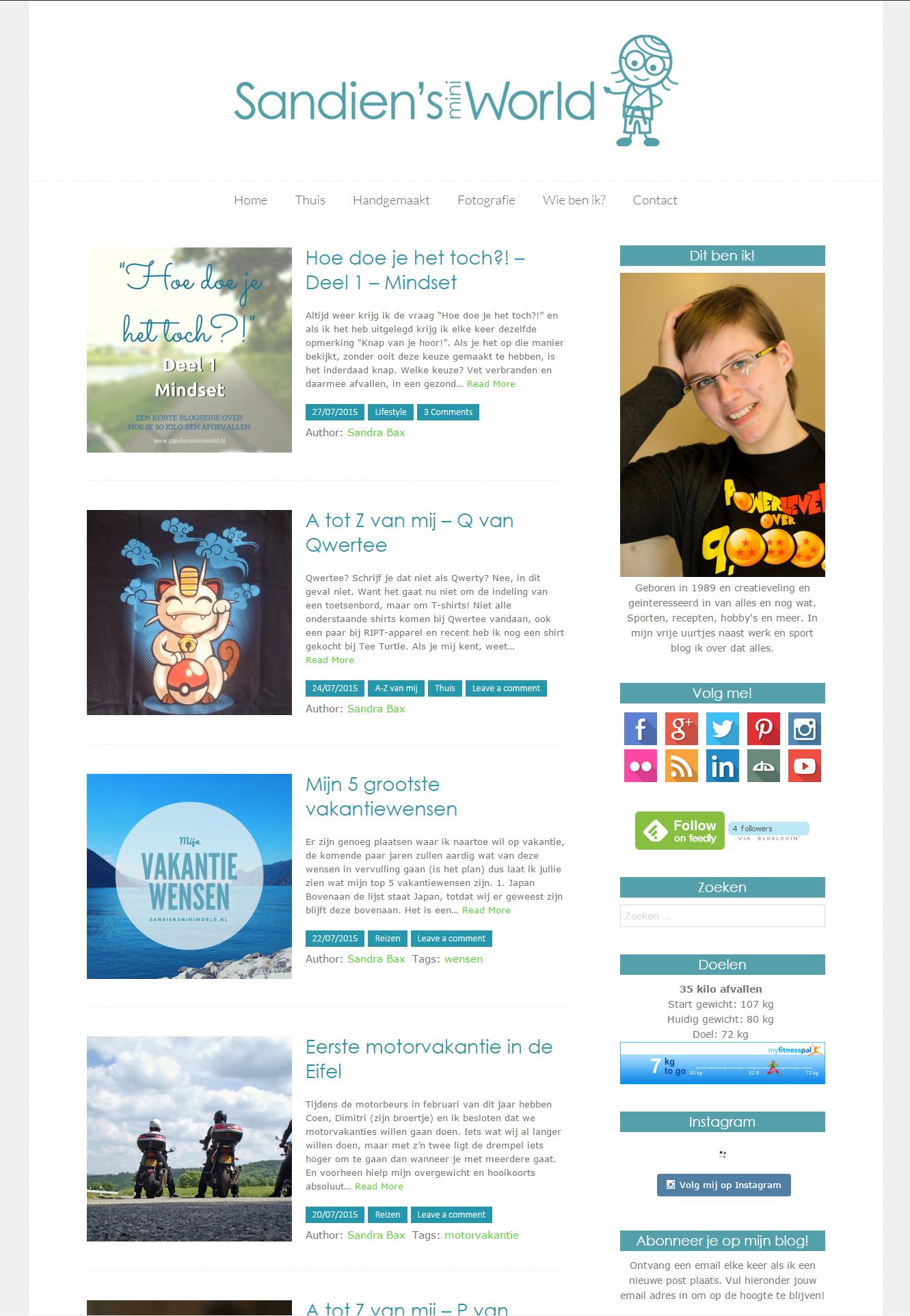 SandiensMiniWorld.nl   Mijn grote kleine wereld